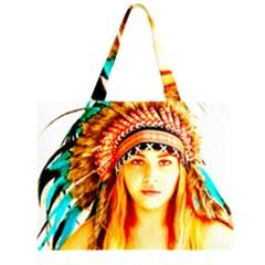 Indian 29 Zipper Large Tote Bag