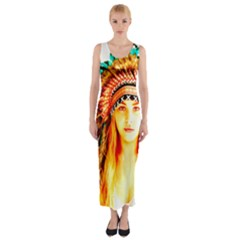 Indian 29 Fitted Maxi Dress