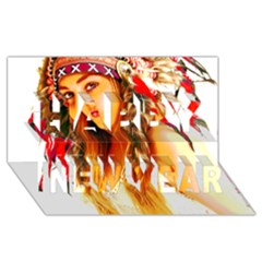 Indian 26 Happy New Year 3d Greeting Card (8x4)
