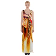 Indian 26 Maxi Thigh Split Dress
