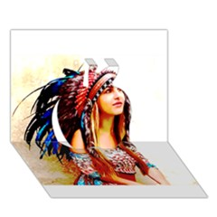 Indian 22 Apple 3d Greeting Card (7x5)
