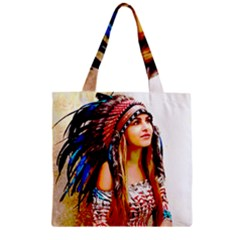 Indian 22 Zipper Grocery Tote Bag