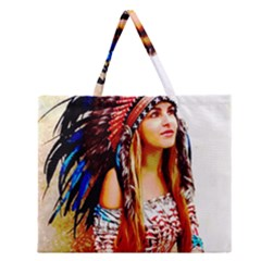 Indian 22 Zipper Large Tote Bag
