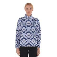 White On Blue Damask Winterwear