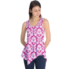 Hot Pink Damask Pattern Sleeveless Tunic