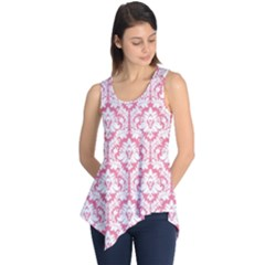 Soft Pink Damask Pattern Sleeveless Tunic