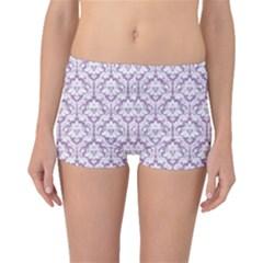 Lilac Damask Pattern Boyleg Bikini Bottoms