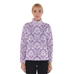 Lilac Damask Pattern Winter Jacket