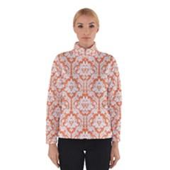 White On Orange Damask Winterwear