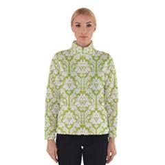 Spring Green Damask Pattern Winter Jacket