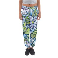 Peaceful Flower Garden Women s Jogger Sweatpants