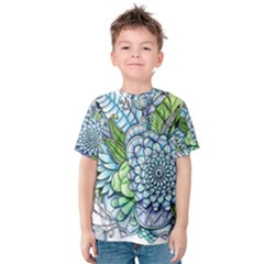 Peaceful Flower Garden 2 Kid s Cotton Tee