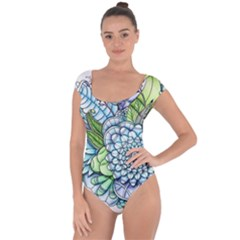 Peaceful Flower Garden 2 Short Sleeve Leotard (ladies)