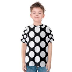 Black And White Polkadot Kid s Cotton Tee