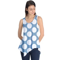 Blue Polkadot Sleeveless Tunic