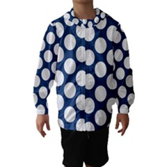 Dark Blue Polkadot Hooded Wind Breaker (Kids)