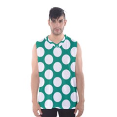 Emerald Green Polkadot Men s Basketball Tank Top