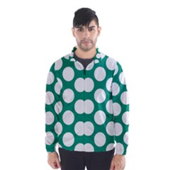 Emerald Green Polkadot Wind Breaker (Men)
