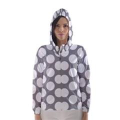 Grey Polkadot Hooded Wind Breaker (women)