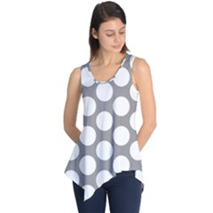 Grey Polkadot Sleeveless Tunic
