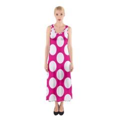 Pink Polkadot Full Print Maxi Dress