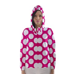 Pink Polkadot Hooded Wind Breaker (women)