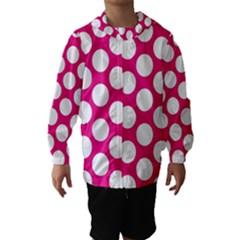 Pink Polkadot Hooded Wind Breaker (Kids)