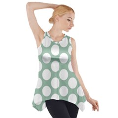 Jade Green Polkadot Side Drop Tank Tunic