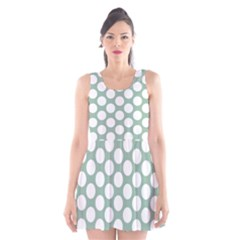 Jade Green Polkadot Scoop Neck Skater Dress