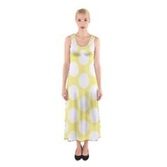 Yellow Polkadot Full Print Maxi Dress