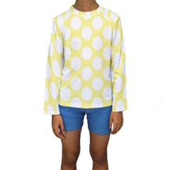 Yellow Polkadot Kid s Long Sleeve Swimwear
