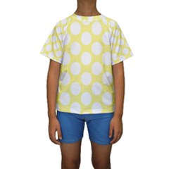Yellow Polkadot Kid s Short Sleeve Swimwear