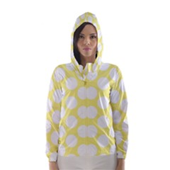Yellow Polkadot Hooded Wind Breaker (Women)