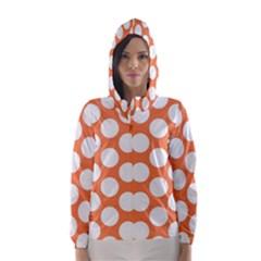 Orange Polkadot Hooded Wind Breaker (women)