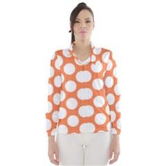 Orange Polkadot Wind Breaker (Women)