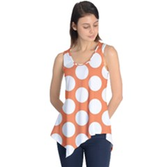Orange Polkadot Sleeveless Tunic