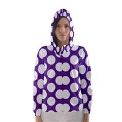 Purple Polkadot Hooded Wind Breaker (women)