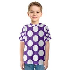 Purple Polkadot Kid s Sport Mesh Tee