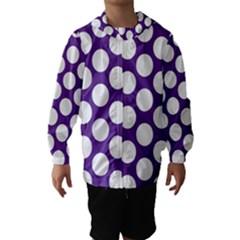 Purple Polkadot Hooded Wind Breaker (kids)