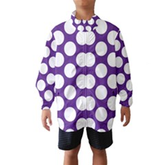 Purple Polkadot Wind Breaker (kids)