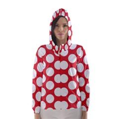 Red Polkadot Hooded Wind Breaker (Women)
