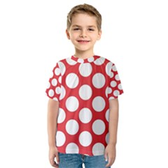 Red Polkadot Kid s Sport Mesh Tee