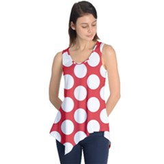 Red Polkadot Sleeveless Tunic