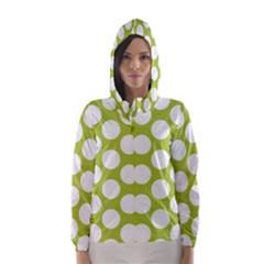 Spring Green Polkadot Hooded Wind Breaker (Women)