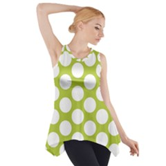 Spring Green Polkadot Side Drop Tank Tunic