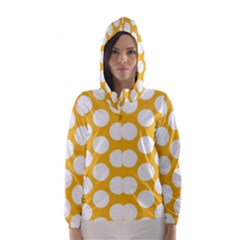 Sunny Yellow Polkadot Hooded Wind Breaker (Women)