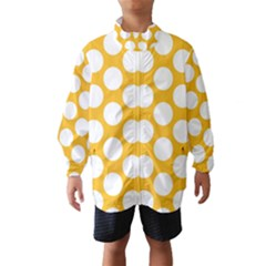 Sunny Yellow Polkadot Wind Breaker (Kids)