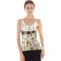 Yellow Whimsical Flowers  Tank Top
