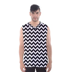 Black And White Zigzag Men s Basketball Tank Top
