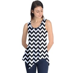 Black And White Zigzag Sleeveless Tunic